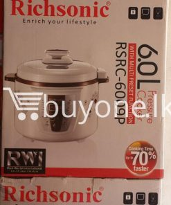 richsonic enrich your lifestyle 6 litre pressure cooker with multi preset function home and kitchen special best offer buy one lk sri lanka 99423 247x296 - Richsonic Enrich your lifestyle 6 Litre Pressure Cooker with Multi Preset Function
