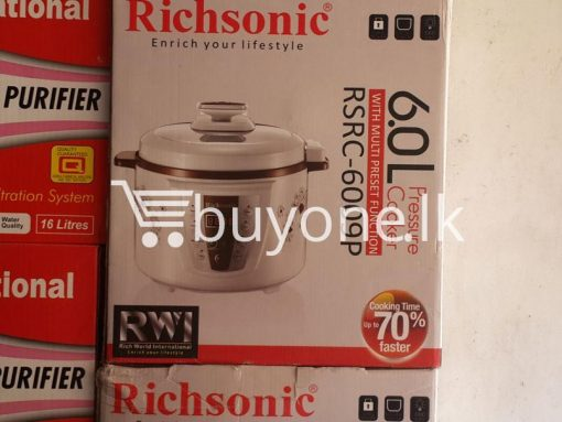 richsonic enrich your lifestyle 6 litre pressure cooker with multi preset function home and kitchen special best offer buy one lk sri lanka 99423 510x383 - Richsonic Enrich your lifestyle 6 Litre Pressure Cooker with Multi Preset Function