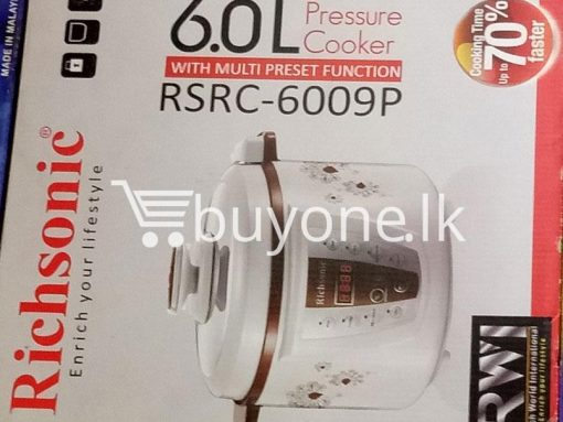 richsonic enrich your lifestyle 6 litre pressure cooker with multi preset function home and kitchen special best offer buy one lk sri lanka 99425 510x383 - Richsonic Enrich your lifestyle 6 Litre Pressure Cooker with Multi Preset Function