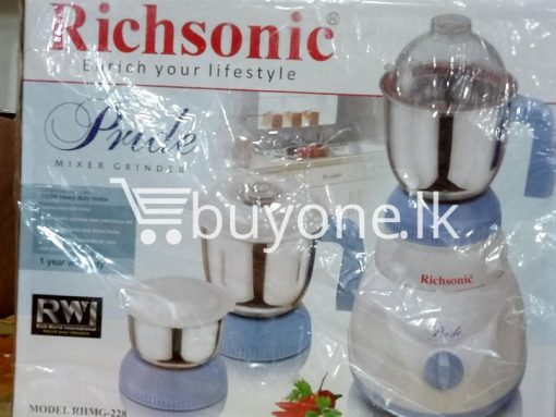 richsonic enrich your lifestyle pride mixer grinder rhmg 228 home and kitchen special best offer buy one lk sri lanka 99457 510x383 - Richsonic Enrich your lifestyle Pride Mixer Grinder RHMG-228