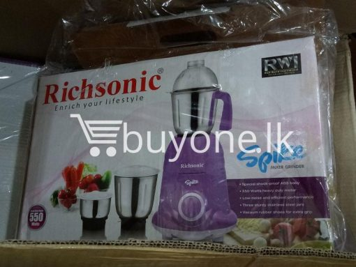 richsonic enrich your lifestyle spike mixer grinder with special shock proof abs body home and kitchen special best offer buy one lk sri lanka 99474 510x383 - Richsonic Enrich your lifestyle Spike Mixer Grinder with Special Shock Proof ABS Body