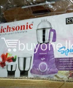 richsonic enrich your lifestyle spike mixer grinder with special shock proof abs body home and kitchen special best offer buy one lk sri lanka 99475 247x296 - Richsonic Enrich your lifestyle Spike Mixer Grinder with Special Shock Proof ABS Body