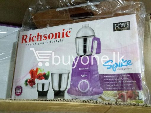 richsonic enrich your lifestyle spike mixer grinder with special shock proof abs body home and kitchen special best offer buy one lk sri lanka 99475 510x383 - Richsonic Enrich your lifestyle Spike Mixer Grinder with Special Shock Proof ABS Body