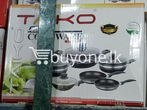 taiko non stick cookware 10pcs full set induction bottom healthy cooking home and kitchen special best offer buy one lk sri lanka 99440 510x383 - Taiko Non Stick Cookware 10pcs Full Set Induction Bottom Healthy Cooking