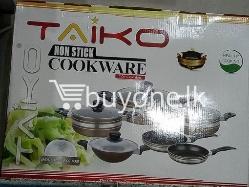 taiko non stick cookware 10pcs full set induction bottom healthy cooking home and kitchen special best offer buy one lk sri lanka 99441 510x383 - Taiko Non Stick Cookware 10pcs Full Set Induction Bottom Healthy Cooking
