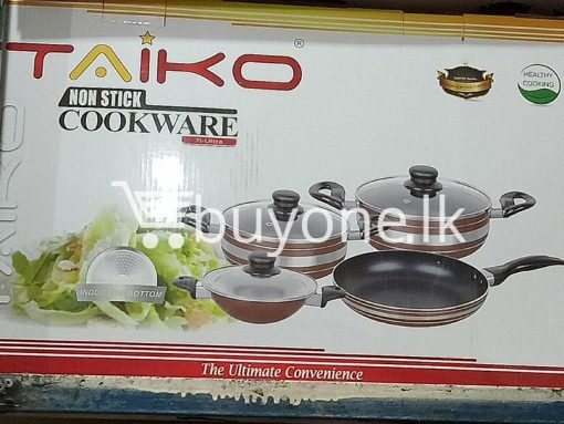 taiko non stick cookware 7pcs full set induction bottom healthy cooking home and kitchen special best offer buy one lk sri lanka 99435 510x383 - Taiko Non Stick Cookware 7pcs Full Set Induction Bottom Healthy Cooking