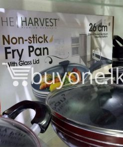 the harvest premium homeware 26cm non stick fry pan with glass lid home and kitchen special best offer buy one lk sri lanka 99594 247x296 - The Harvest Premium Homeware-26cm Non Stick Fry Pan with Glass Lid