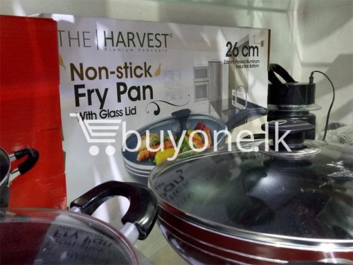 the harvest premium homeware 26cm non stick fry pan with glass lid home and kitchen special best offer buy one lk sri lanka 99594 510x383 - The Harvest Premium Homeware-26cm Non Stick Fry Pan with Glass Lid