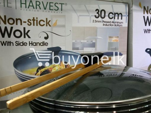 the harvest premium homeware 30cm non stick wok with side handle home and kitchen special best offer buy one lk sri lanka 99588 510x383 - The Harvest Premium Homeware-30cm Non Stick Wok with Side Handle