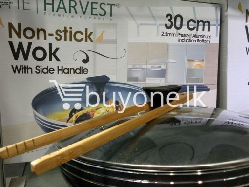 the harvest premium homeware 30cm non stick wok with side handle home and kitchen special best offer buy one lk sri lanka 99589 510x383 - The Harvest Premium Homeware-30cm Non Stick Wok with Side Handle
