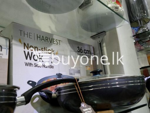 the harvest premium homeware 36cm non stick wok with side handle home and kitchen special best offer buy one lk sri lanka 99580 510x383 - The Harvest Premium Homeware-36cm Non Stick Wok with Side Handle