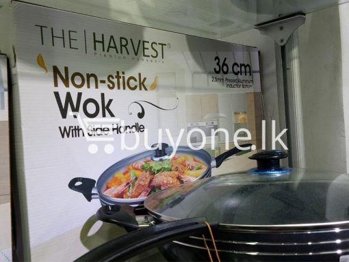 the harvest premium homeware 36cm non stick wok with side handle home and kitchen special best offer buy one lk sri lanka 99581 510x383 - The Harvest Premium Homeware-36cm Non Stick Wok with Side Handle