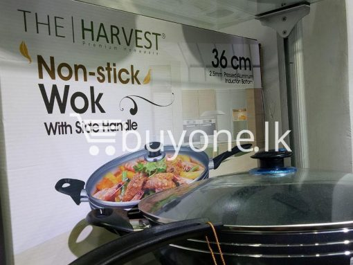the harvest premium homeware 36cm non stick wok with side handle home and kitchen special best offer buy one lk sri lanka 99582 510x383 - The Harvest Premium Homeware-36cm Non Stick Wok with Side Handle