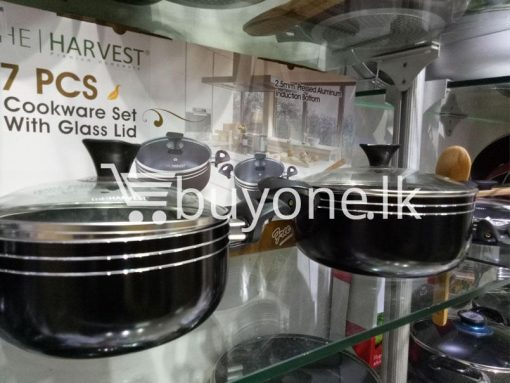the harvest premium homeware 7pcs cookware set with glass lid home and kitchen special best offer buy one lk sri lanka 99573 510x383 - The Harvest Premium Homeware-7pcs Cookware Set with Glass Lid