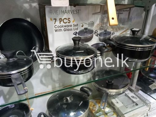 the harvest premium homeware 7pcs cookware set with glass lid home and kitchen special best offer buy one lk sri lanka 99575 510x383 - The Harvest Premium Homeware-7pcs Cookware Set with Glass Lid
