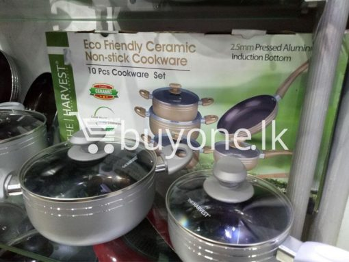 the harvest premium homeware eco friendly ceramic non stick 10pc cookware set home and kitchen special best offer buy one lk sri lanka 99567 510x383 - The Harvest Premium Homeware-Eco Friendly Ceramic Non-Stick 10pc Cookware Set
