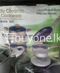 the harvest premium homeware eco friendly ceramic non stick 10pc cookware set home and kitchen special best offer buy one lk sri lanka 99568 247x296 - The Harvest Premium Homeware-Eco Friendly Ceramic Non-Stick 10pc Cookware Set