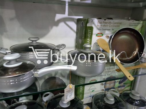 the harvest premium homeware eco friendly ceramic non stick 7pcs cookware set home and kitchen special best offer buy one lk sri lanka 99600 510x383 - The Harvest Premium Homeware-Eco Friendly Ceramic Non-Stick 7pcs Cookware Set