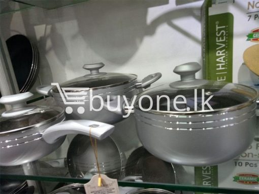 the harvest premium homeware eco friendly ceramic non stick 7pcs cookware set home and kitchen special best offer buy one lk sri lanka 99602 510x383 - The Harvest Premium Homeware-Eco Friendly Ceramic Non-Stick 7pcs Cookware Set