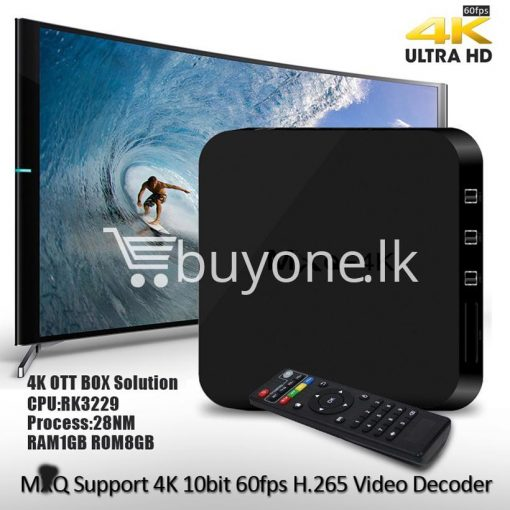 mxq 4k smart tv box kodi 15.2 preinstalled android 5.1 1g8g h.264h.265 10bit wifi lan hdmi dlna airplay miracast mobile phone accessories special best offer buy one lk sri lanka 50930 510x510 - MXQ 4K Smart TV Box KODI 15.2 Preinstalled Android 5.1 1G/8G H.264/H.265 10Bit WIFI LAN HDMI DLNA AirPlay Miracast