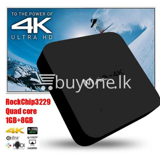 mxq 4k smart tv box kodi 15.2 preinstalled android 5.1 1g8g h.264h.265 10bit wifi lan hdmi dlna airplay miracast mobile phone accessories special best offer buy one lk sri lanka 50931 510x510 - MXQ 4K Smart TV Box KODI 15.2 Preinstalled Android 5.1 1G/8G H.264/H.265 10Bit WIFI LAN HDMI DLNA AirPlay Miracast