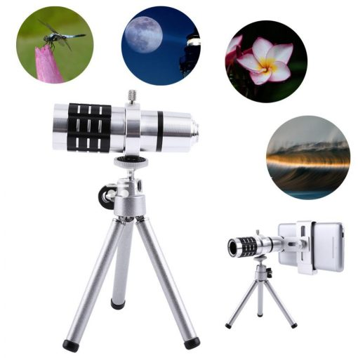12x zoom camera telephoto telescope lens mount tripod kit for iphone xiaomi samsung huawei htc universal mobile phone accessories special best offer buy one lk sri lanka 06547 510x510 - 12X Zoom Camera Telephoto Telescope Lens + Mount Tripod Kit For iPhone Xiaomi Samsung Huawei HTC Universal