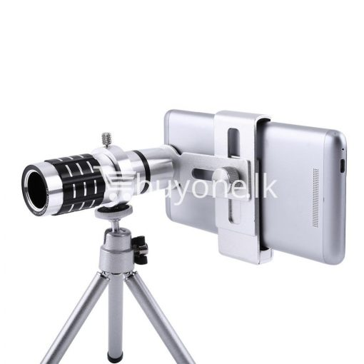 12x zoom camera telephoto telescope lens mount tripod kit for iphone xiaomi samsung huawei htc universal mobile phone accessories special best offer buy one lk sri lanka 06551 510x510 - 12X Zoom Camera Telephoto Telescope Lens + Mount Tripod Kit For iPhone Xiaomi Samsung Huawei HTC Universal