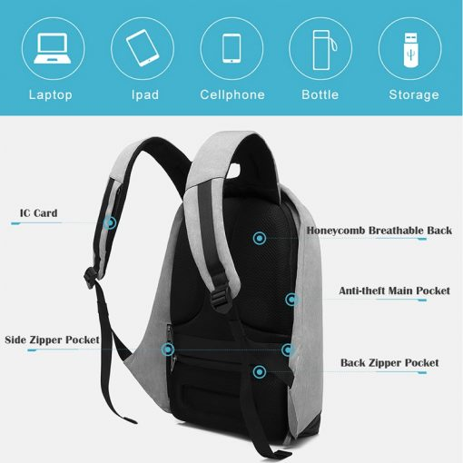 new multi function waterproof anti theft laptop backpacks with usb charging computer accessories special best offer buy one lk sri lanka 67019 510x510 - New Multi function Waterproof Anti theft Laptop Backpacks with USB Charging