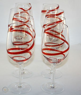 pier pier one red swirline swirl set 1 59d786e6f960f0b47c95fc983ed17a7a 2 - Red Swril Stemmed Wine Glasses Set Of 6