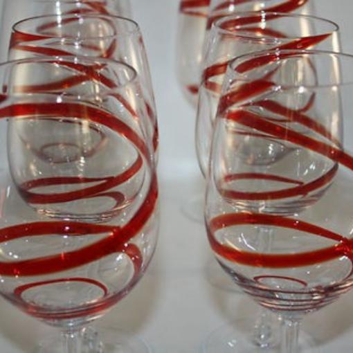 red swril stemmed 4 1 510x510 - Red Swril Stemmed Wine Glasses Set Of 6