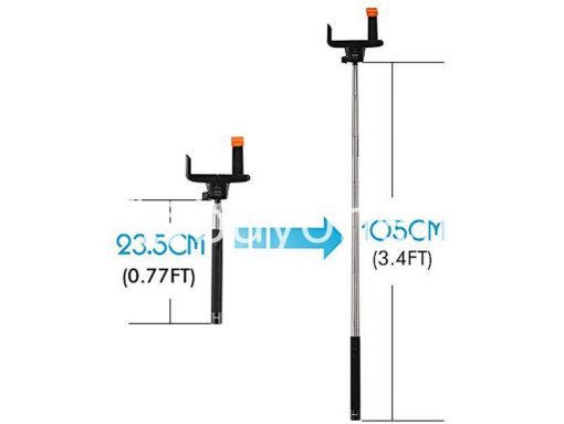 new selfie stick monopod with clip self portrait ver 2 5 sri lanka brand new buyone lk send gift offers 7 510x383 - New Selfie Stick Monopod With Clip Self-Portrait Ver 2.5