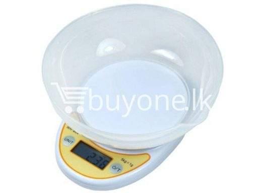 portable electronic kitchen scale lcd display digital with bowl for sale sri lanka brand new buyone lk send gift offers 5 510x383 - Portable Electronic Kitchen Scale LCD Display Digital with Bowl