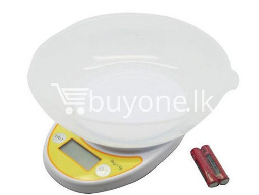 portable electronic kitchen scale lcd display digital with bowl for sale sri lanka brand new buyone lk send gift offers 6 510x383 - Portable Electronic Kitchen Scale LCD Display Digital with Bowl