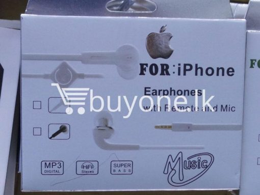 headphone for iphone with mic remote mobile phone accessories brand new sale gift offer sri lanka buyone lk 2 510x383 - Headphone for iPhone with Mic & Remote