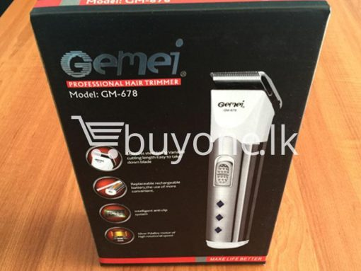 gemei professional hair trimmer make life better gm 678 best deals send gifts christmas offers buy one sri lanka 5 510x383 - Gemei Professional Hair Trimmer Make Life Better GM-678