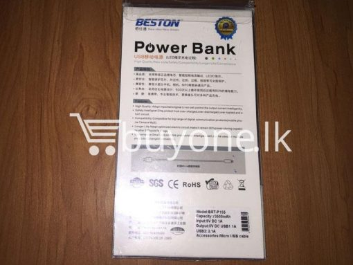 original beston power bank 13000 mah with dual socket port with led torch best deals send gift christmas offers buy one lk sri lanka 4 510x383 - Original Beston Power Bank 13500 mah with Dual socket port with LED Torch
