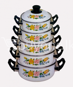 hachi 10pcs enamel ware set home and kitchen special offer best deals buy one lk sri lanka 1453801496 247x296 - Hachi 10Pcs Enamel Ware Set