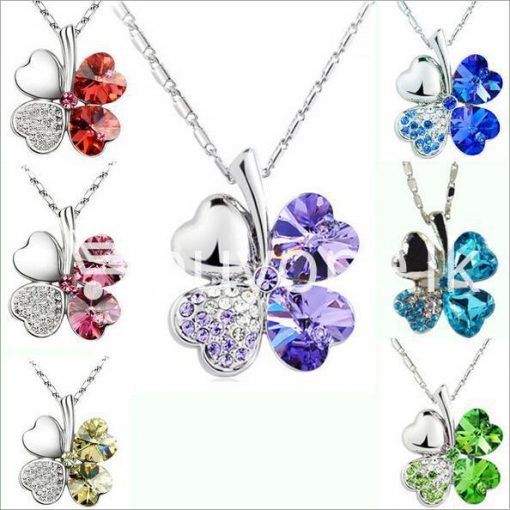 new 2016 silver crystal pendant chain necklace valentine gift jewelry store special best offer buy one lk sri lanka 12671 510x510 - New 2016 Silver Crystal Pendant Chain Necklace Valentine Gift
