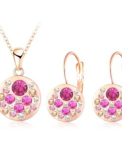2016 new 18k rose gold plated pendantearrings jewelry set jewelry sets special best offer buy one lk sri lanka 63906 1 247x296 - 2016 New 18K Rose Gold Plated Pendant/Earrings Jewelry Set