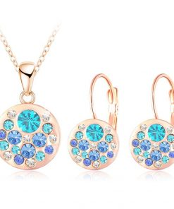 2016 new 18k rose gold plated pendantearrings jewelry set jewelry sets special best offer buy one lk sri lanka 63906 247x296 - 2016 New 18K Rose Gold Plated Pendant/Earrings Jewelry Set