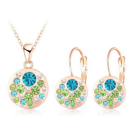 2016 new 18k rose gold plated pendantearrings jewelry set jewelry sets special best offer buy one lk sri lanka 63907 510x510 - 2016 New 18K Rose Gold Plated Pendant/Earrings Jewelry Set