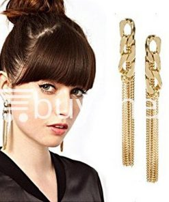 new fashion women gold plated drop earrings earrings special best offer buy one lk sri lanka 62170 247x296 - New Fashion Women Gold Plated Drop Earrings