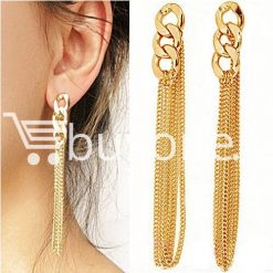 new fashion women gold plated drop earrings earrings special best offer buy one lk sri lanka 62171 247x247 - New Fashion Women Gold Plated Drop Earrings