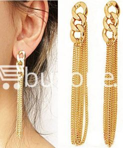 new fashion women gold plated drop earrings earrings special best offer buy one lk sri lanka 62171 247x296 - New Fashion Women Gold Plated Drop Earrings