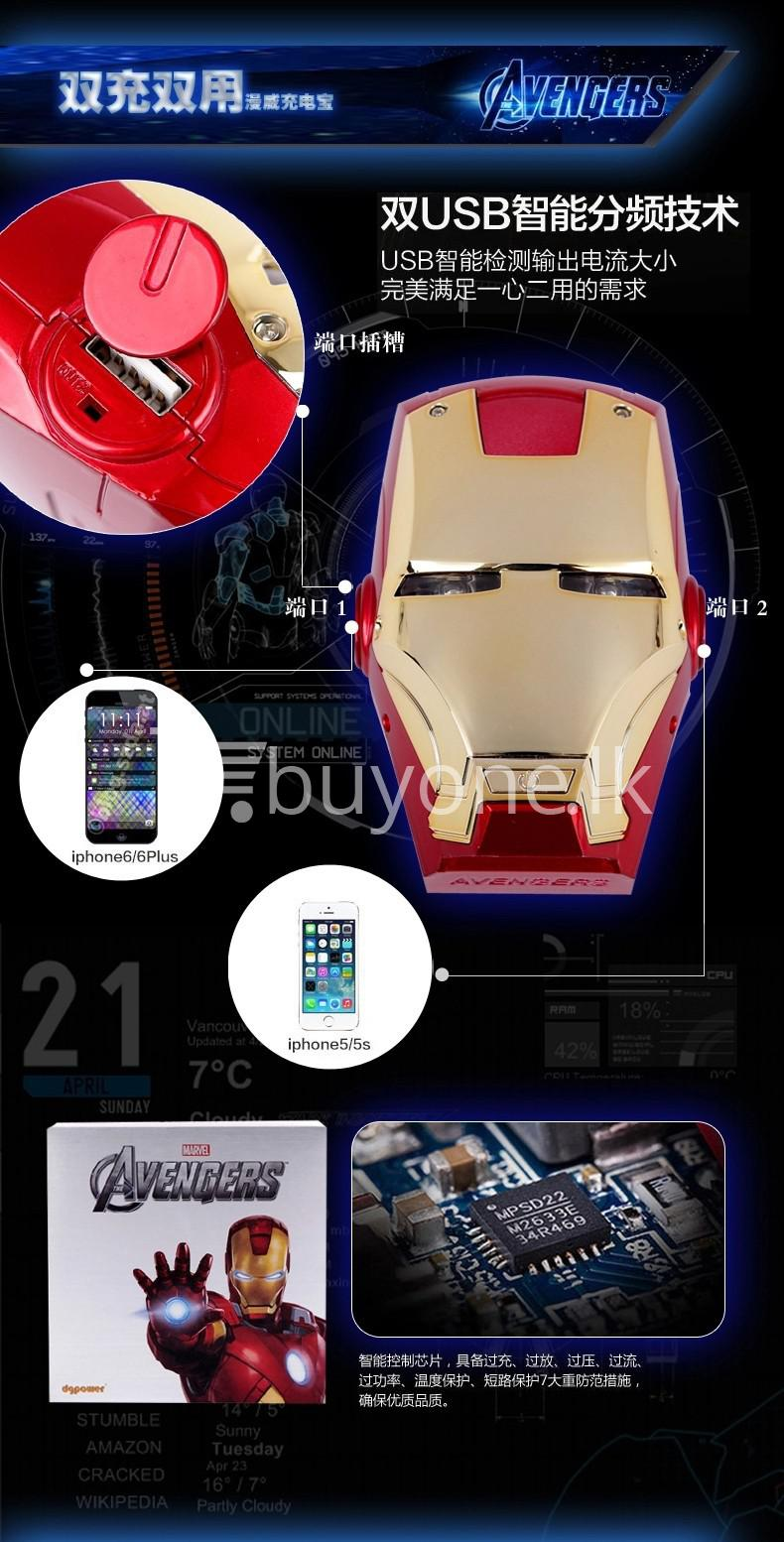 newest iron man portable power bank 6000mah for iphone samsung htc nokia oneplus mobile store special best offer buy one lk sri lanka 06543 - Newest Iron Man Portable Power Bank 6000mAh for iPhone, Samsung, HTC, Nokia, OnePlus