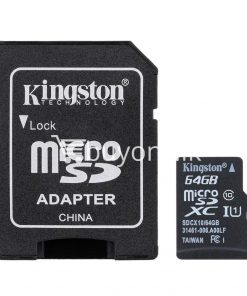 64gb kingston micro sd card tf class10 memory card with warranty mobile phone accessories special best offer buy one lk sri lanka 24039 247x296 - 64GB Kingston Micro SD Card TF Class10 Memory Card with Warranty