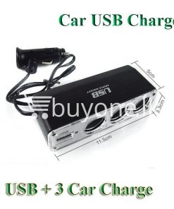 new triple socket 3 ways with usb car charger cigarette lighter power adapter splitter automobile store special best offer buy one lk sri lanka 22632 247x296 - New Triple Socket 3 Ways with USB Car Charger Cigarette Lighter Power Adapter Splitter