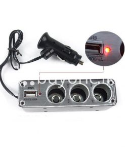 new triple socket 3 ways with usb car charger cigarette lighter power adapter splitter automobile store special best offer buy one lk sri lanka 22633 247x296 - New Triple Socket 3 Ways with USB Car Charger Cigarette Lighter Power Adapter Splitter