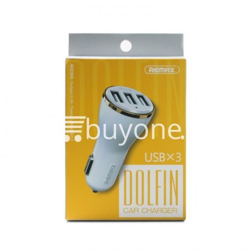 original remax dolfin triple ports usb car charger for iphone ipad samsung htc mobile phone accessories special best offer buy one lk sri lanka 26477 510x510 - Original Remax Dolfin Triple Ports USB Car Charger For iPhone iPad Samsung HTC