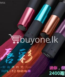 remax 2600mah fashion luxury lipstick power bank mobile phone accessories special best offer buy one lk sri lanka 23656 247x296 - REMAX 2600mAh Fashion Luxury Lipstick Power Bank